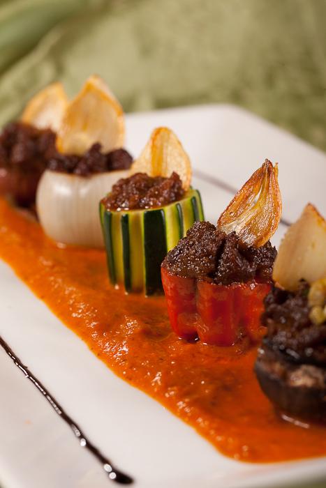 Kompozycja warzyw faszerowanych po prowansalsku
